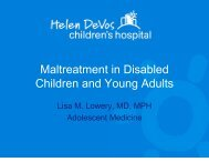 Maltreatment in Disabled Children and Young Adults - Children's ...