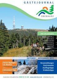 Gästejournal Oktober/November 2011 (PDF) - Der Oberharz