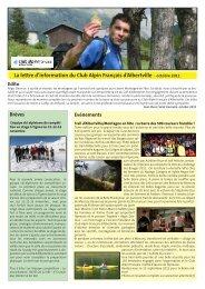 Lettre d'info du CAF d'Albertville n°4 - Club Alpin Francais - Albertville