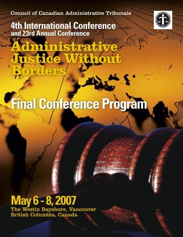 2007 Conference Program - Ccat-ctac.org