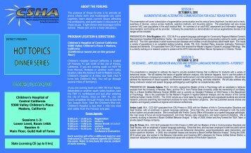 Dist 5 Hot Topics Oct 2010.pdf - CSHA