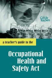 A Teacher's Guide to the Occupational Health and Safety Act