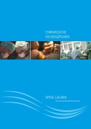 Chirurgisches Leistungsspektrum - Spital Lachen