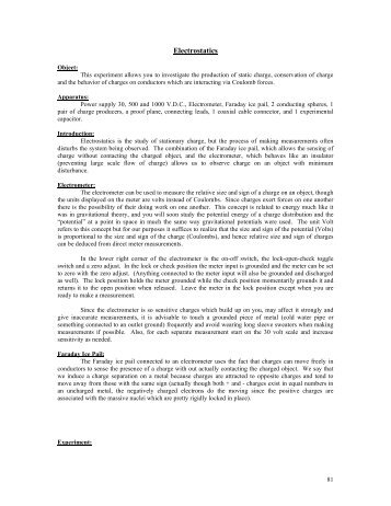 Electrostatics Worksheet Answers. Worksheets. Reviewrevitol Free ...