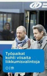Työpaikat kohti viisaita liikkumisvalintoja -esite - HSL