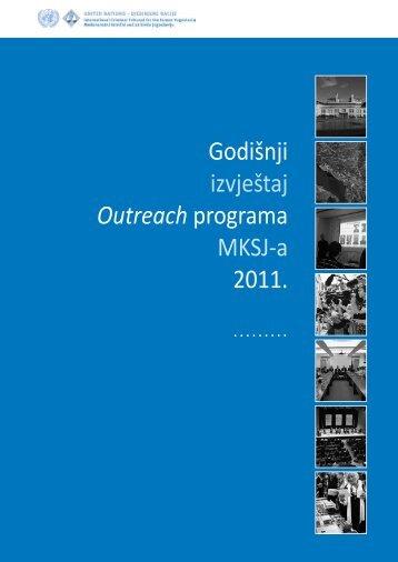 Godišnji izvještaj Outreach programa MKSJ-a 2011. - ICTY