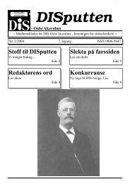 DISputten - DIS-Norge