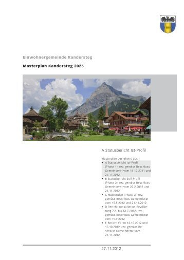 Masterplan Kandersteg 2025 - Einwohnergemeinde Kandersteg
