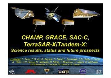 CHAMP, GRACE, SAC-C, CHAMP, GRACE, SAC C, TerraSAR-X ...