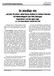 Hier die Überschrift - Medium Magazin