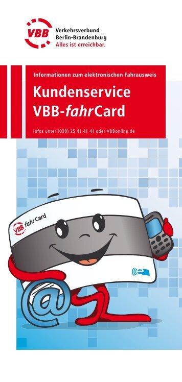 Kundenservice VBB-fahrCard - bei der Stadtverkehrsgesellschaft ...