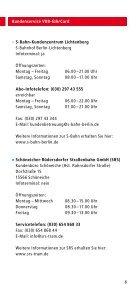 Kundenservice VBB-fahrCard - bei der Stadtverkehrsgesellschaft ... - Seite 6