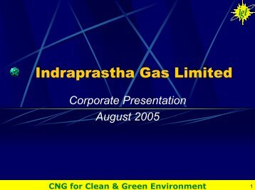 Corporate Presentation to Investors - Indraprastha Gas Limited