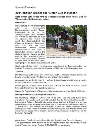 Presseinformation 2011 endlich wieder ein Hunter ... - Krb-da-di.de
