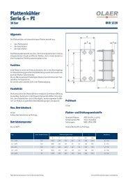 Plattenkühler Serie G – PI - Olaer AG