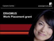 Erasmus work experience - School of Politics International Studies