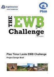 Plan Timor Leste EWB Challenge - Engineers Without Borders UK