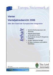 Vierter Vierteljahresbericht 2006 - Europa Steiermark