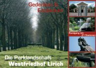 Gedenken & Entdecken Die Parklandschaft - Stadt Oberhausen