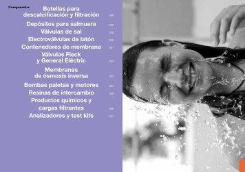 Botellas para descalcificación y filtración Depósitos para ... - Ionfilter
