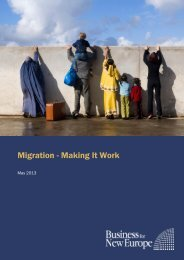 Migration - Making It Work - Business for New Europe