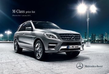 Download the new M-Class price list - Mercedes-Benz UK