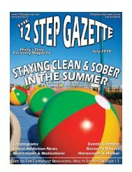 July 2010 - 12 Step Gazette