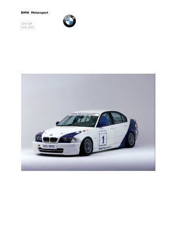 BMW Motorsport 320i SP 320i DTC - Koed