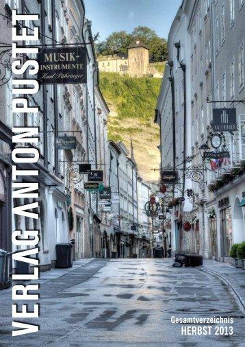 HERBST 2013 - Verlag Anton Pustet