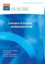 Cancers d'origine professionnelle - Ligue-cancer83.net