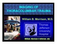 IMAGING OF THORACOLUMBAR TRAUMA