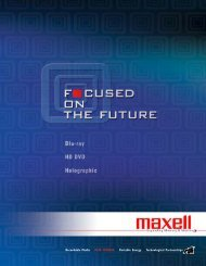 Focused on Future - Maxell Canada