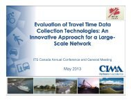 Evaluation of Travel Time Data Collection ... - (ITS) Canada