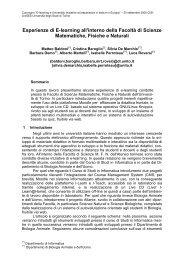 250 Kb - Cisi - Università degli Studi di Torino