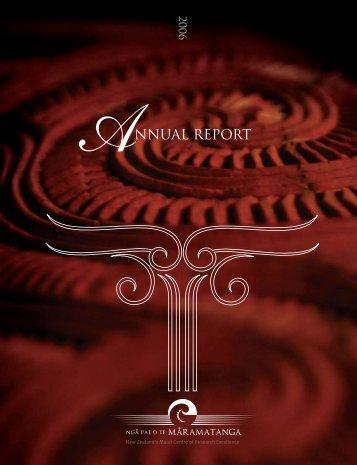 NNUAL REPORT - Ngā Pae o te Māramatanga
