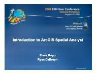 Introduction to ArcGIS Spatial Analyst