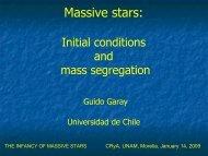 The Maternities of Massive Stars - CRyA, UNAM