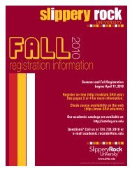 registration information - Slippery Rock University