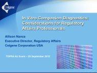 What is an in vitro companion diagnostic device? - TOPRA