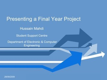 Presenting a Final Year Project - ECE Student Information
