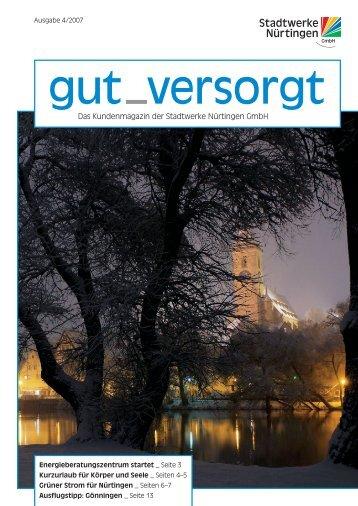 Das Kundenmagazin der Stadtwerke Nürtingen GmbH