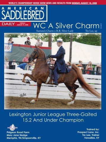WC A Silver Charm - American Saddlebred Horse Association