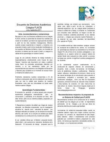 Acuerdos de Lima 2011 - Flacsi