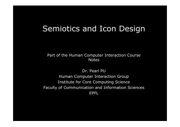 Semiotics and Icon Design - HCI - EPFL
