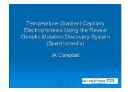 Temperature Gradient Capillary Electrophoresis Using the Reveal ...