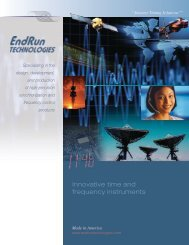 Innovative time and frequency instruments - EndRun Technologies