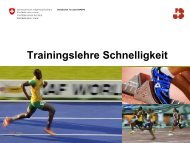 Schnelligkeit / Sprint - Swiss Athletics