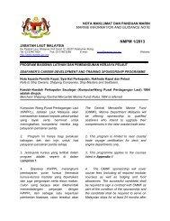 NMPM 1/2013 - Jabatan Laut Malaysia