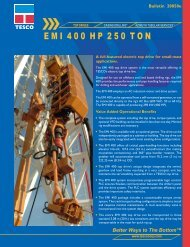 E M I  4 0 0 H P  2 5 0 T O N - TESCO Corporation