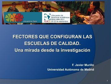 Factores que inciden en la calidad educativa - Presentación - Cerpe